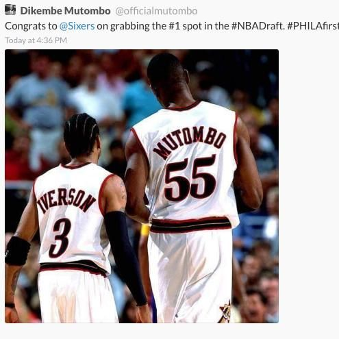 Dikembe Mutombo Deletes Tweet Congratulating Sixers on Winning NBA Draft Lottery | VICE Sports