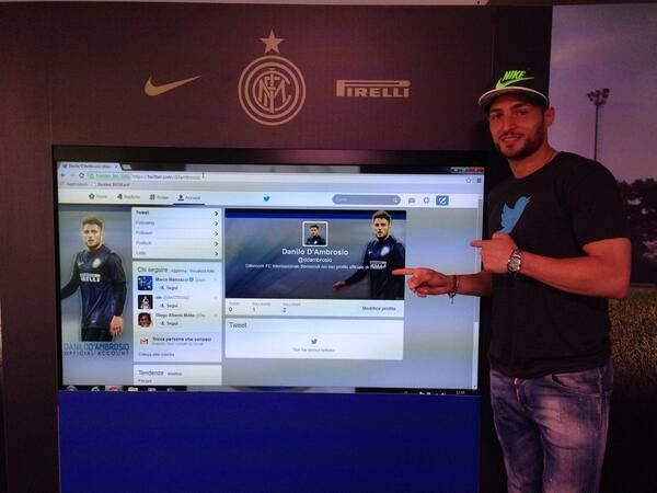 Inter Milan player D'Ambrosio using Twitter for charity