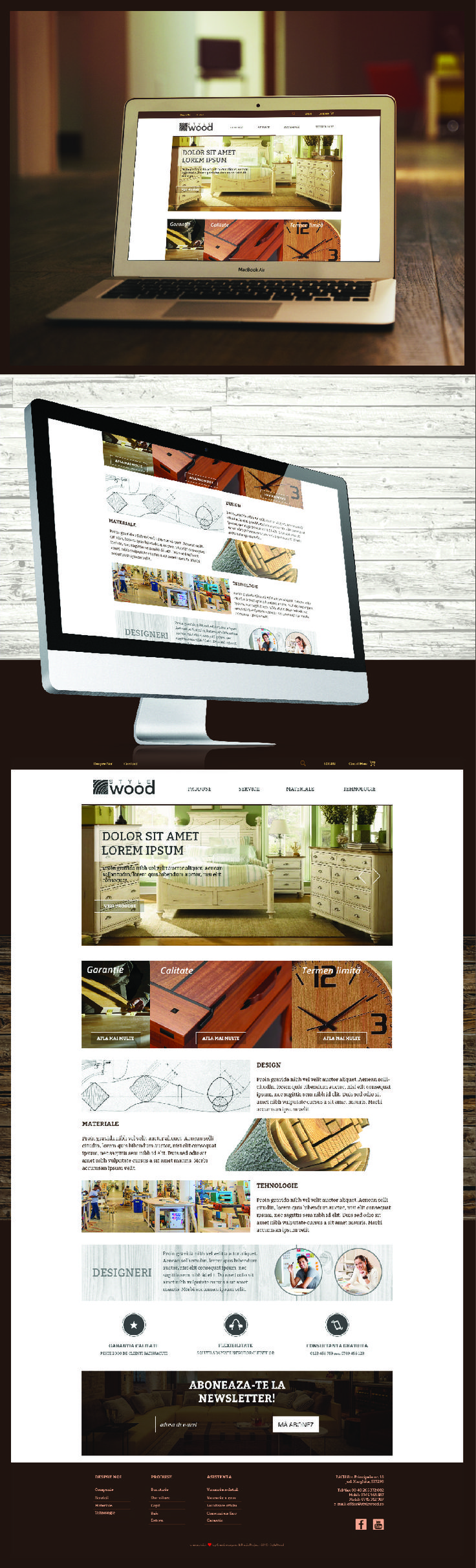 Website design for Style Wood - unique and high class furniture design company