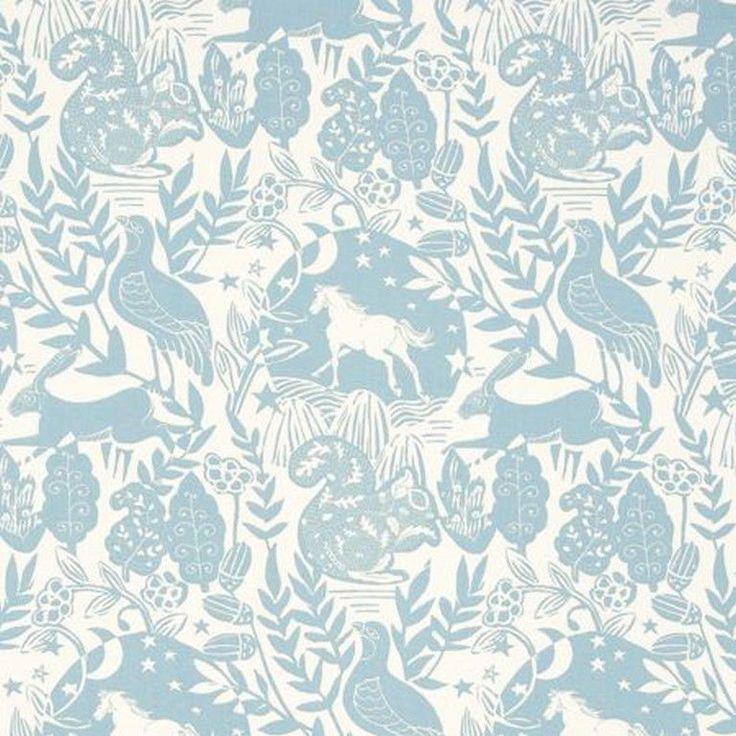 CLARKE and CLARKE (STUDIO G) CURTAIN FABRIC 100% COTTON WESTONBIRT Blue p/m in Crafts, Sewing & Fabric, Fabric   eBay