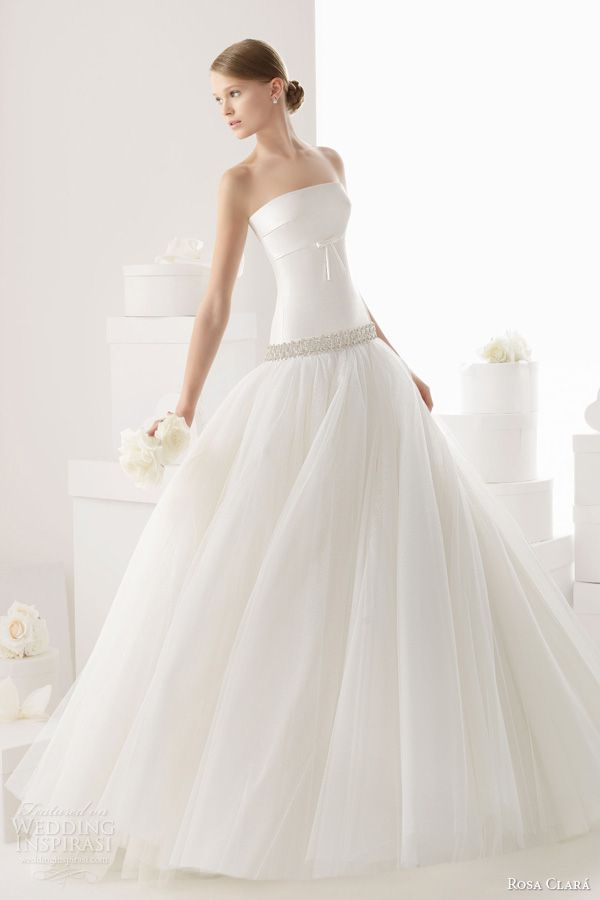 rosa clara bridal 2014 carpa strapless wedding dress