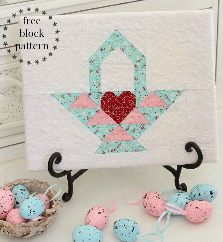 Threadbare Creations- Free Block Pattern Easter Basket