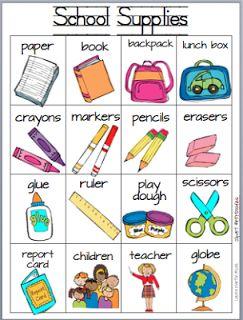 Classroom Freebies Too: School Supplies Writing Card