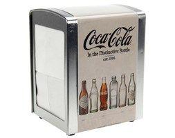 Metalowy serwetnik Coca-Cola, pojemnik na serwetki