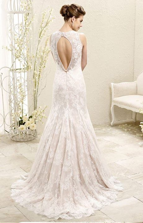 Wedding gown | Bridal dress | Eddy K | Style 77969 | Designed in Milan | Italian |  Chantilly lace | High neck | Open back | Available at Brides of Melbourne