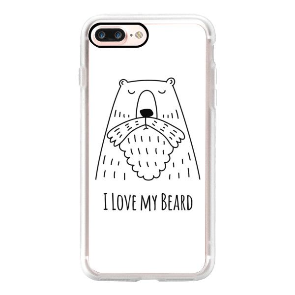 For Men - I Love my Beard - Bear - White - iPhone 7 Case, iPhone 7... ($40) ❤ liked on Polyvore featuring men's fashion, men's accessories, men's tech accessories and iphone case