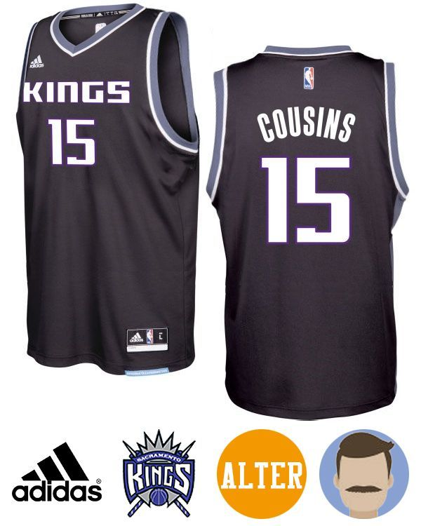 Don't miss the chance to get Men's Kings #15 DeMarcus Cousins 2016-