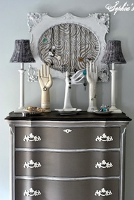 Color: Coco, Annie Sloan Chalk Paint. Beautifully redone dresser from Sophias. awesome