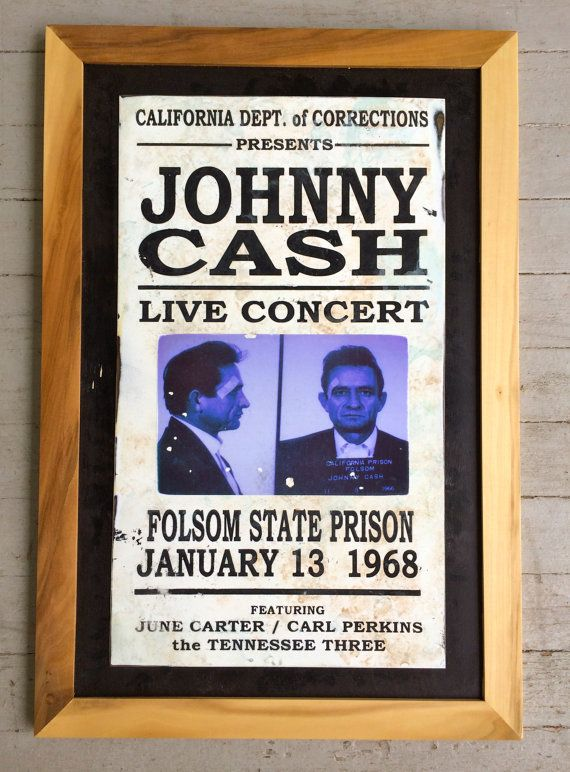Johnny Cash concert sign by thecrabbybadger on Etsy