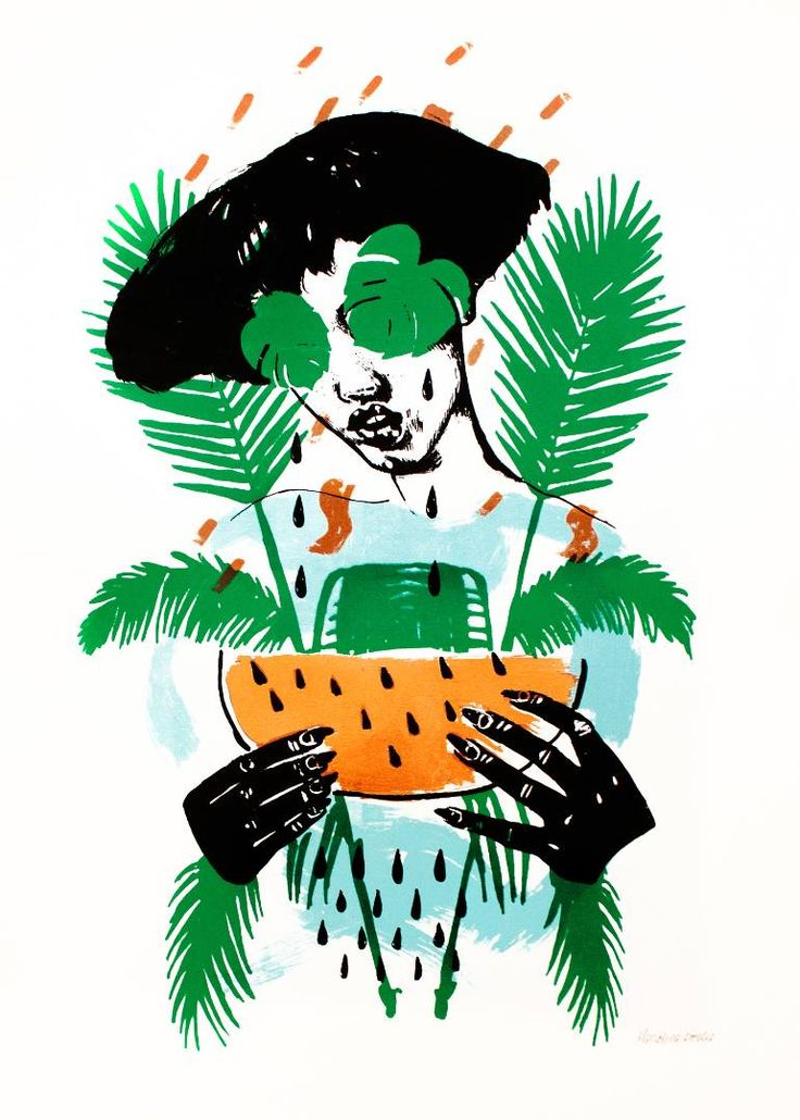 Buy 50 - Limited Edition 26 of 50, a Screenprinting on Paper by Marcelina amelia from United Kingdom. It portrays: Floral, relevant to: summer, tears, tropical, vacation, mental health, floral, green, greenery, nature 'Copper Tropicana (Copper Leaf)' is a limited edition Silkscreen Print by contemporary artist Marcelina Amelia. Printed onto 310gsm Southbank Smooth paper, and finished with copper leaf, the piece is signed and numbered by the artist.  Marcelina Amelia is a contemporary artist…