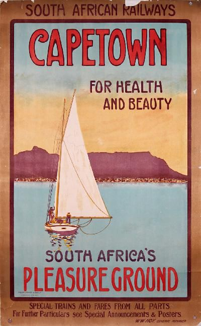 A vintage ad for Capetown, South Africa circa 1920s #nauticalprep