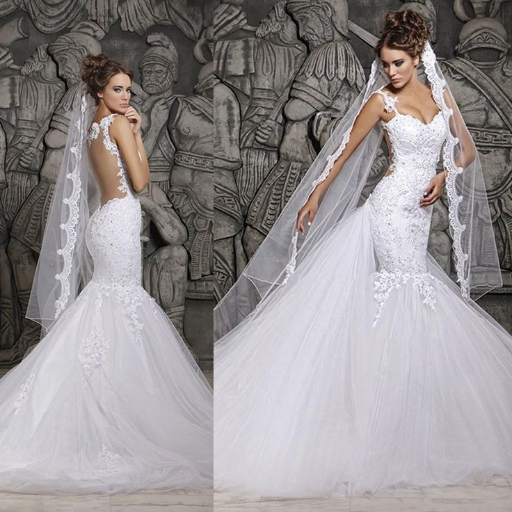 12 best low back wedding dresses images on pinterest for Low cut back wedding dress