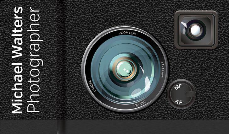 Creative Business Card for Photographer - Camera Design