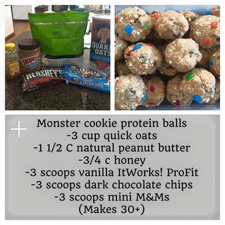Monster cookie protein balls Healthy Lunches & Shakes