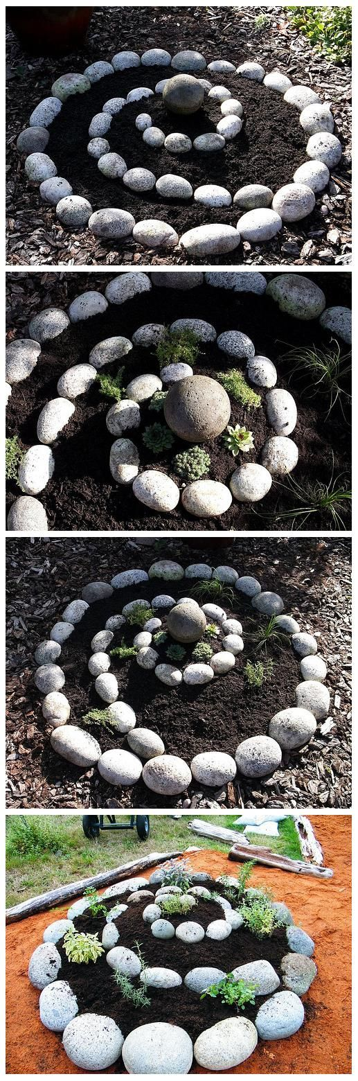 Wind up your plantings in a Rock Spiral Garden (@World In Green)