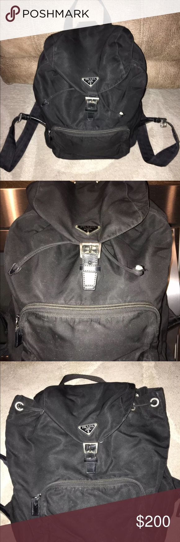 Authentic Prada backpack 100% authentic full size Prada backpack. Shows signs of wear but has lots of life left!! Accepting offers!! Prada Bags Backpacks