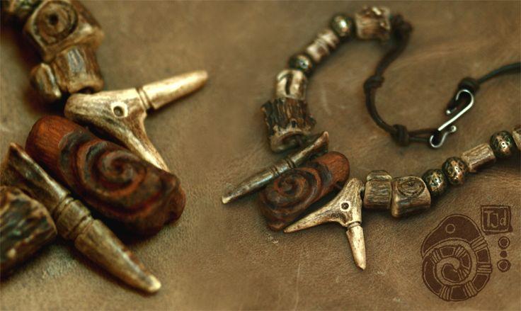 Bone Necklace by Lynfir.deviantart.com on @deviantART
