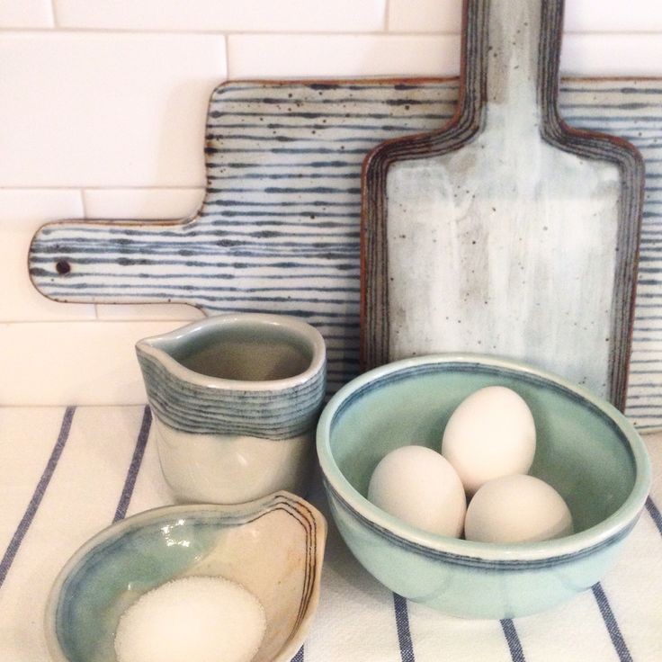 Ceramic cheese boards and bowls....
