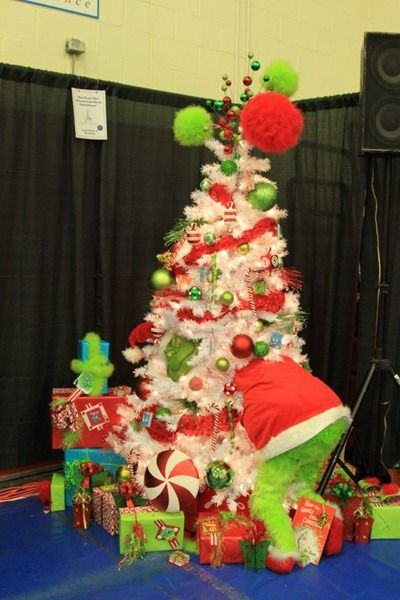 Another Grinch tree.  Outside??? Grinch Christmas Tree Gillette WY Festival of Trees 2011