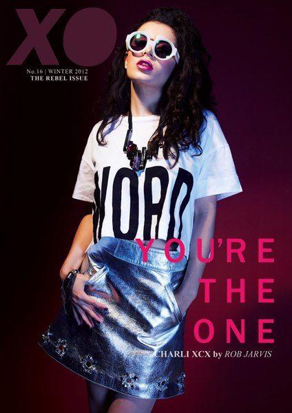Charli XCX wearing Felder Felder metallic leather skirt for the cover of XO Magazine