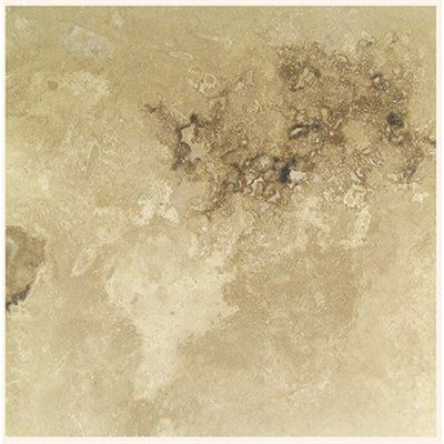 Faber Travertine 1 Filled and Honed- Beige, Brown Onyx Natural Stone Travertine Floor Tile (Common: 18-in x 18-in; Actual: 18-in x 18-in)
