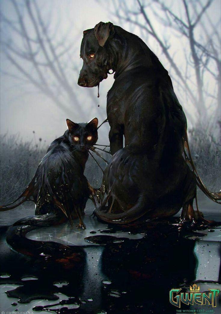 Schwarzer Hund und schwarze Katze (Olgierds Summon)   – The Witcher