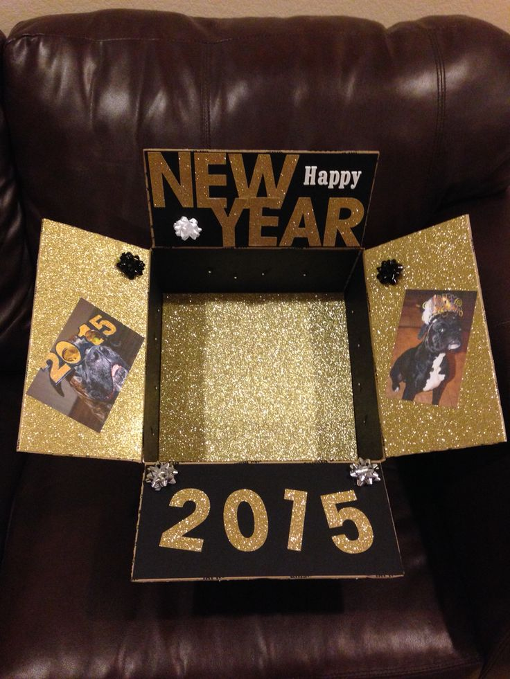 New Years Care Package That I Made For Austin