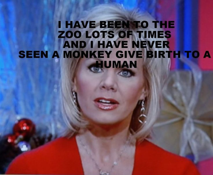As said on fox news by Gretchen Mol, she really understands evolution.
