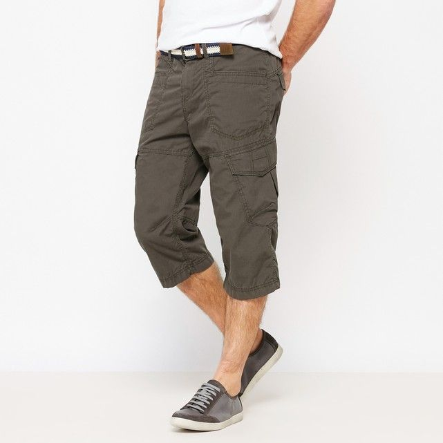 Long Combat Bermuda Shorts with Integrated Belt TOM TAILOR : price, reviews and rating, delivery. - Straight cut- Waistband with belt loops- Zip and button fly- 2 side pockets- 2 flap pockets on thights- Detachable beltFabric content and details:Main fabric: 100% cottonBrand: Tom Tailor® Care instructions:Machine washable at 30°C.