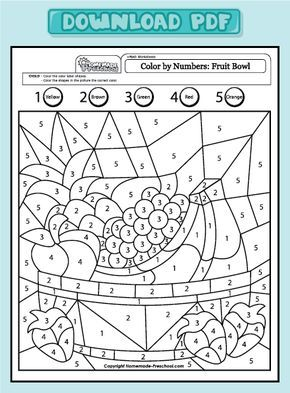 Fun And Interactive Preschool Worksheets Sayılar Boyama