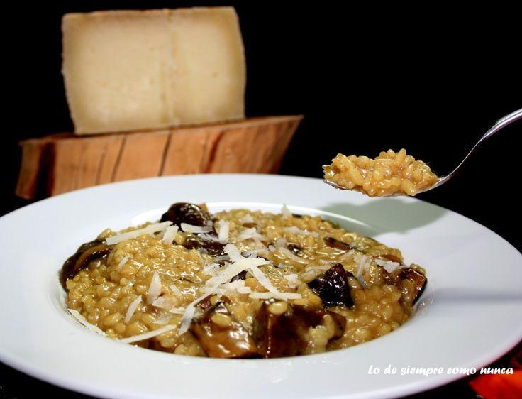 Risotto de hongos con queso Gabino Perez