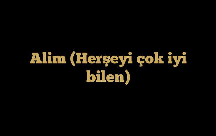 Allah'ın isimlerinden biri de Alim ismidir. Alim olan Allah hakkında daha fazla bilgi edinmek için ŞİMDİ ZİYARET EDİN!