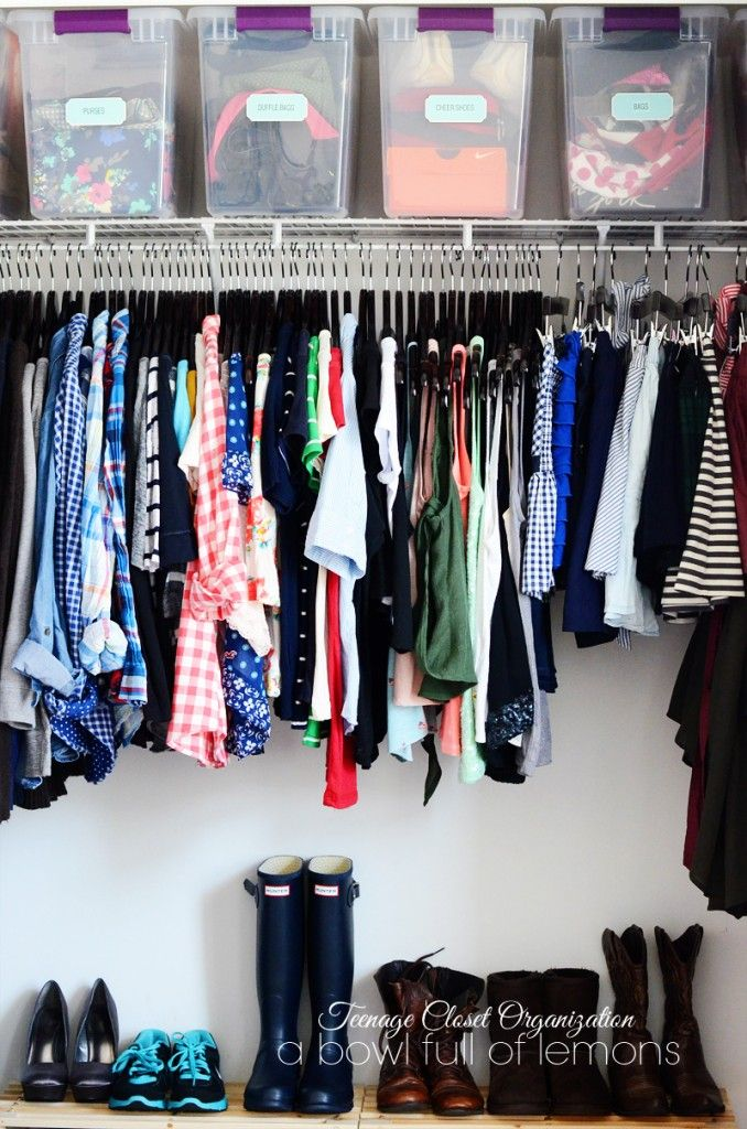 Equip your tween and teen with tons of ideas to get (and keep!) their closet organized. Via A Bowl Full of Lemons