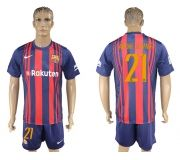 Barcelona FC 17-18 home soccer kits 04