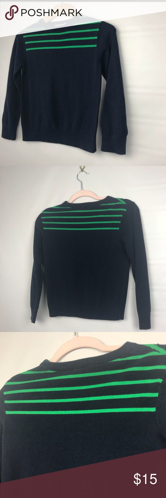"CHILDREN'S PLACE kids dress up sweater boy size M The Children's Place classic sweater Size Medium 7/8 Sleeve is 19"" Pit to pit 15"" Length is 20"" Please note that this is a used item. Normal fade from wash and wear.  #X The Children's Place Shirts & Tops Sweaters"