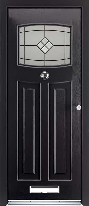 Onyx Black rockdoor Newark - finally a 1930s looking door with modern safety regs - I think I might have found our front door! :)
