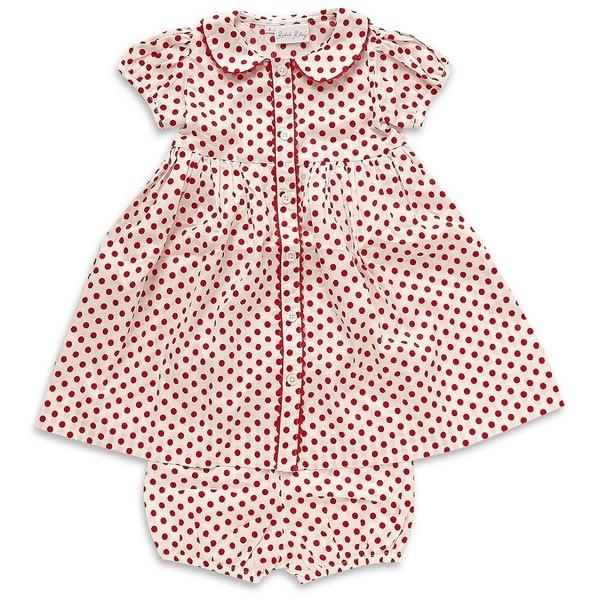 RACHEL RILEY Polka Dot Button Down Dress (6 Months-2 Years)