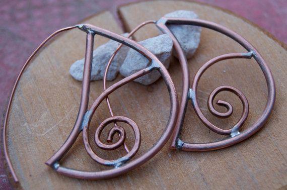 Guarda questo articolo nel mio negozio Etsy https://www.etsy.com/listing/225996250/copper-earrings-tribal-earrings