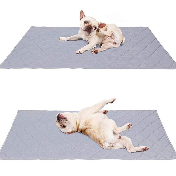 Naivedream Reversible Large Pet Cooling Mat Pad For Puppy Bulldog