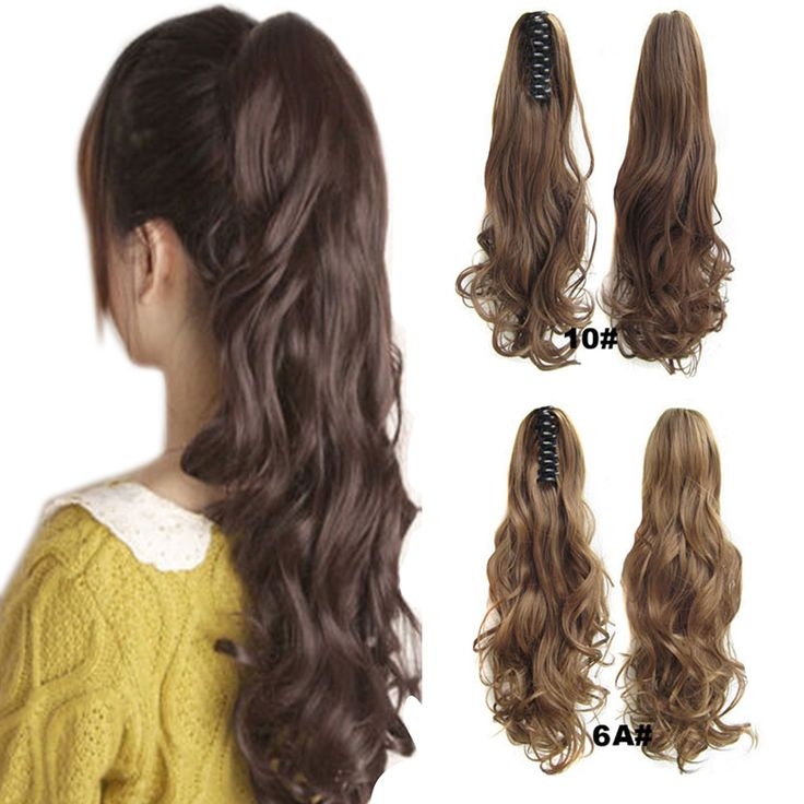 Fashion Women Curly Clip In Ponytail Hair Extension Claw On Pony Tail Hair Piece Accessories SSwell #Affiliate