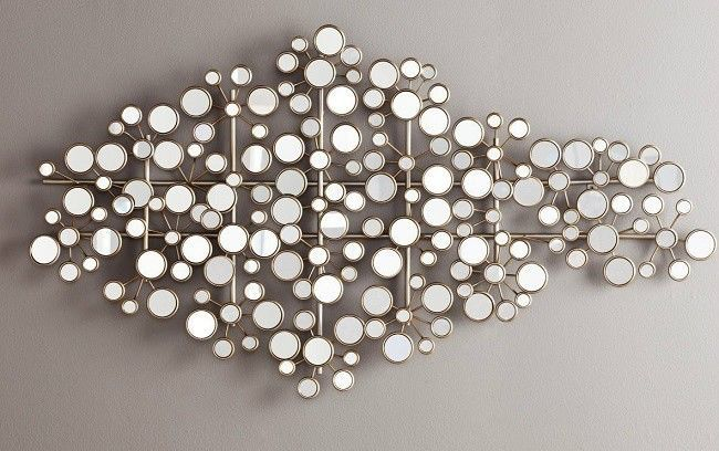 Small Round Mirror Hanging Mini Circle, Mirrored Circles Wall Decor