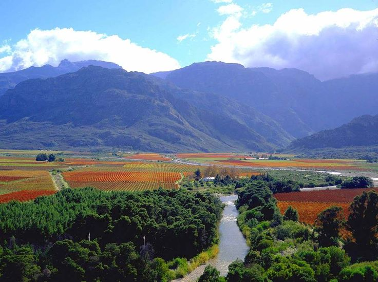Hex River Valley in autumn plumage, Western Cape, South Africa. The South Africa You've Never Seen - SkyscraperCity