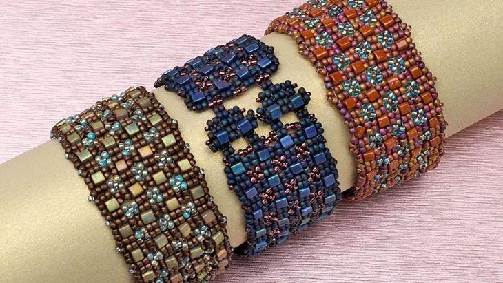 Cube and seed bead bracelet beaded bracelets seed bead