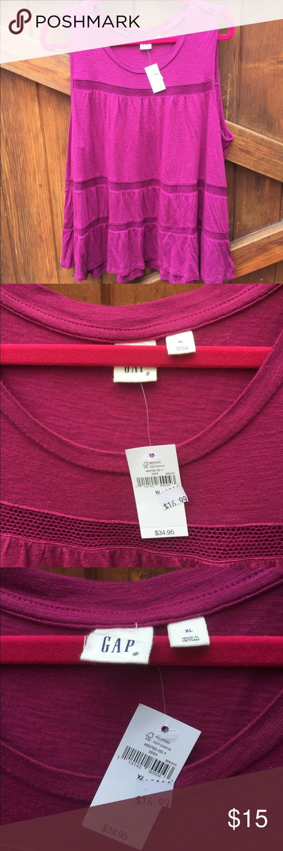 #64 gap purple tank top size xl NWT gap purple tank top size xl . retails for $34.95 and on sale for $16.99 GAP Tops Tank Tops