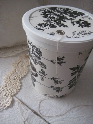 reuse/repurpose I truly hope that OUR dollar store here has toile-patterned contact paper. Endless possibilities.....