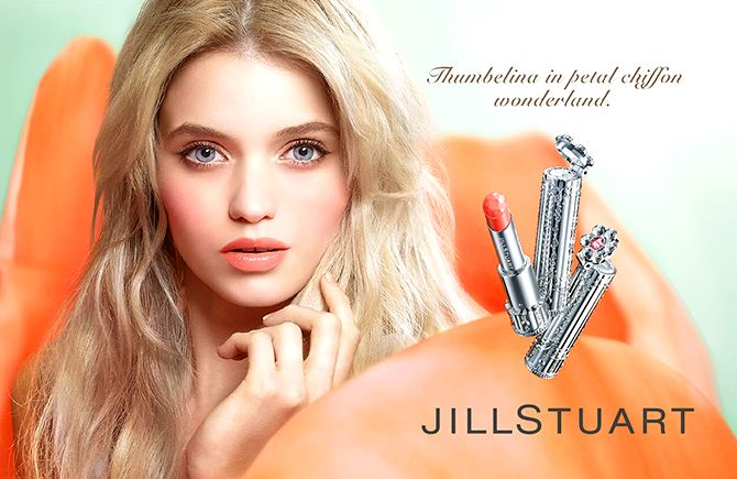 Influence and Stardoll: ♥♥♥ Abbey Lee Kershaw for Jill Stuart Beauty Spring 2014 Ad Campaign