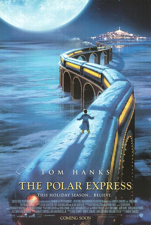 The Polar Express [2004] directed by Robert Zemeckis, featuring the voices of Tom Hanks, Leslie Harter Zemeckis, Eddie Deezen, Nona Gaye, Peter Scolari, Brendan King, Andy Pellick, Josh Eli, Mark Mendonca, and Rolandas Hendricks.