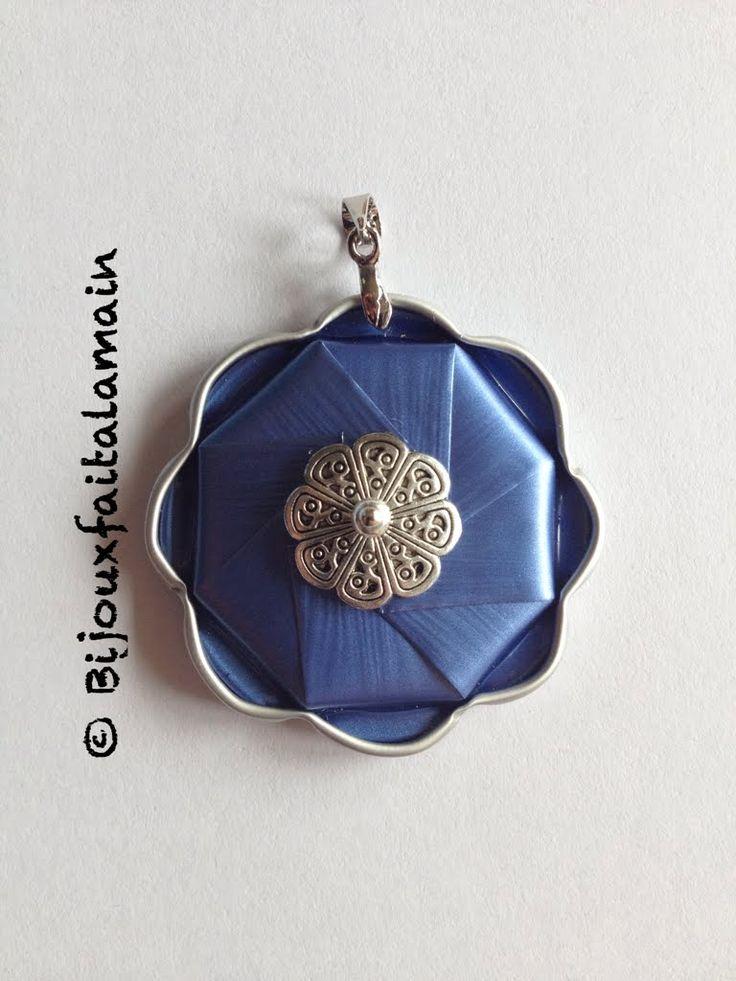 Nespresso DIY: Comment-faire un pendentif fleur. colgante con capsulas pendente / medalão de capsulas nespresso