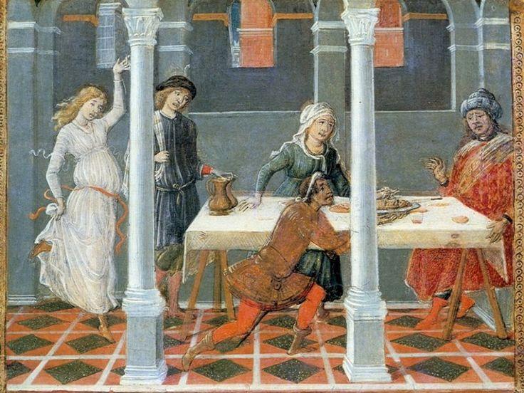 Matteo di Giovanni - Banchetto di Erode - 1476 - tempera su tavola - collezione privata