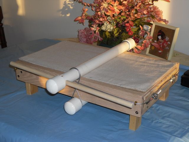 Small, portable slab roller for the studio - much lighter than mine and portable!